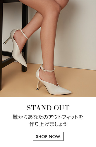Women's v-cut pointed toe heels in chalk - Charles & Keith