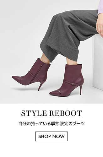 Women's purple pointed toe boots with double strap detail - Charles & Keith