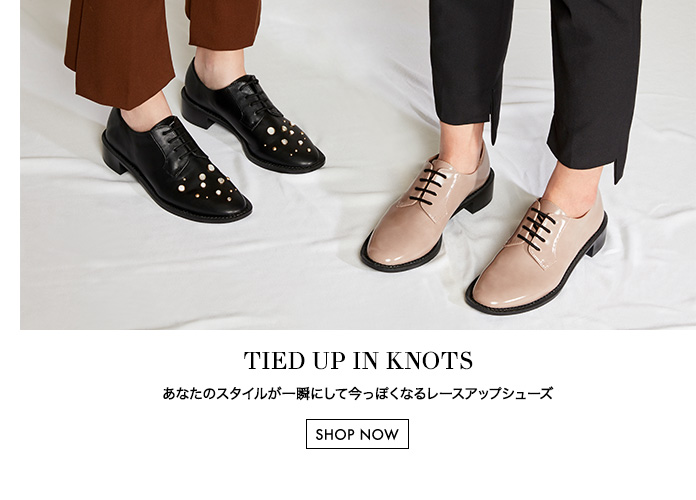 Women's lace up black derby shoes with embellishments and taupe derby shoes - Charles & Keith