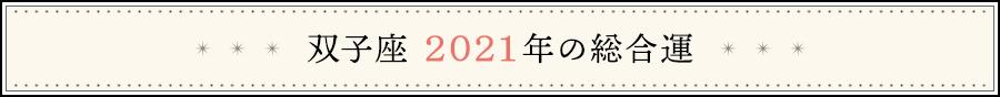 双子座 2021年の総合運