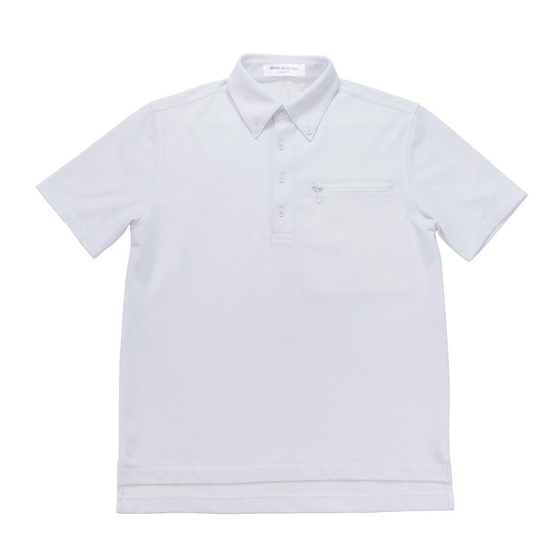 MENS 半袖ワークビズポロシャツ(ホワイト)