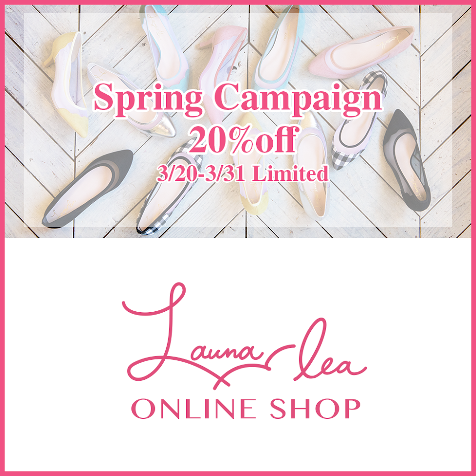 【Spring Campaign】 20%off Special COUPON!!