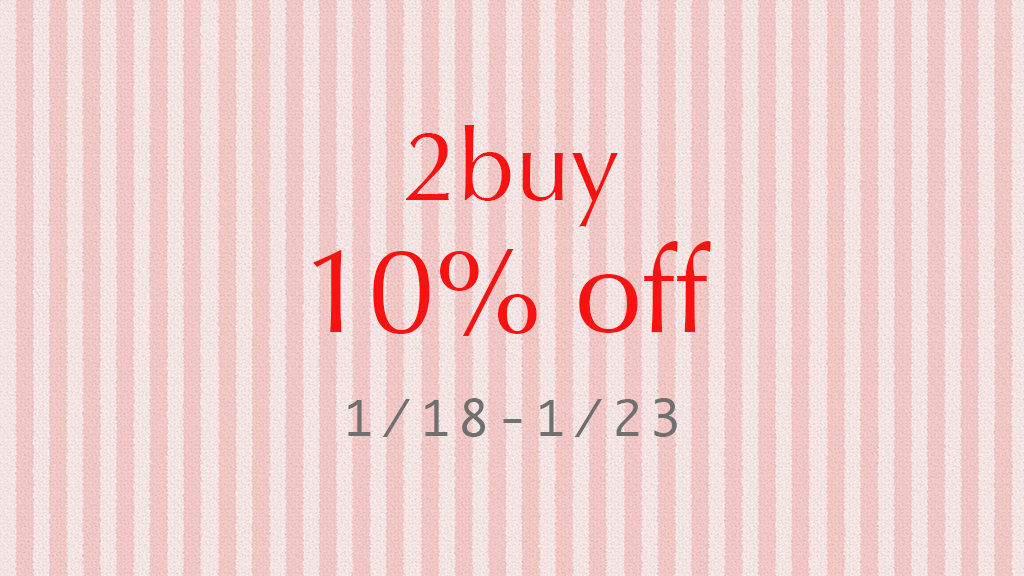 2buy 10%off coupon 開催!!