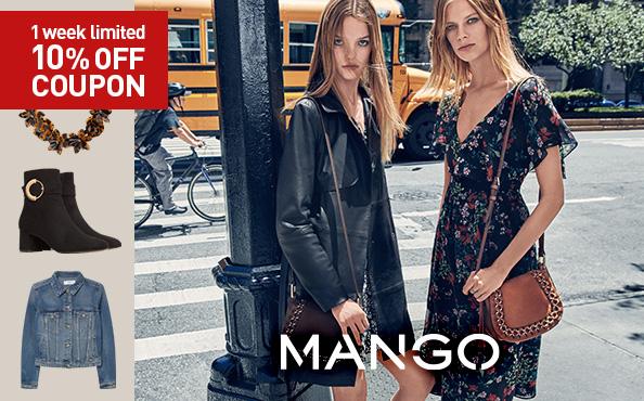 MANGO 1week limited 10%OFF COUPON