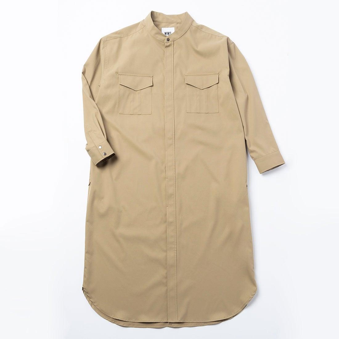3WAYシャツワンピースコート(ベージュ)