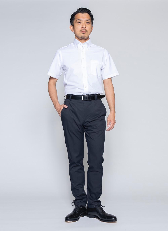 究極の半袖ボタンダウンシャツ(ホワイト)